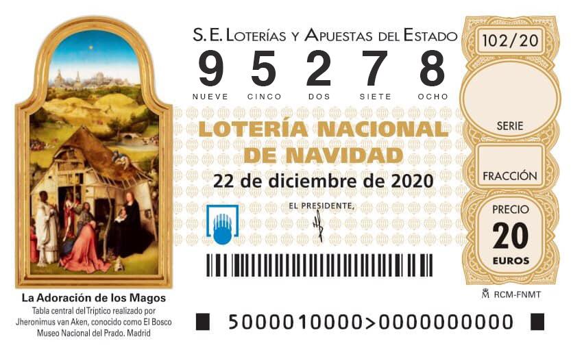 Lotería Navidad 2020 Futbol Veteranos Coruña 95278
